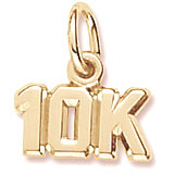 14K Gold 10K Race Accent Charm by Rembrandt Charms