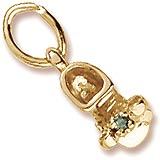 14K Gold Birth Month 05 May Bootie Accent by Rembrandt Charms