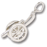 Sterling Silver Cannon Charm by Rembrandt Charms
