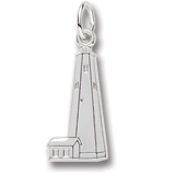 Sterling Silver Bald Head Lighthouse Charm by Rembrandt Charms
