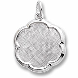 Sterling Silver Blank Scalloped Disc Charm by Rembrandt Charms
