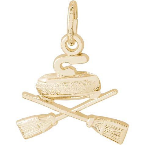 14K Gold Curling Charm by Rembrandt Charms
