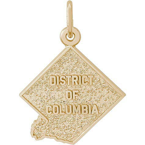 14K Gold District of Columbia Charm by Rembrandt Charms