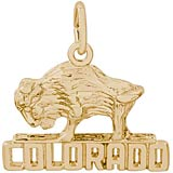 14K Gold Buffalo Colorado Charm by Rembrandt Charms