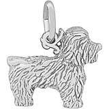 Sterling Silver Bichon Frise Dog Charm by Rembrandt Charms