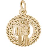 14K Gold Bride and Groom Charm by Rembrandt Charms