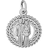 Sterling Silver Bride and Groom Charm by Rembrandt Charms