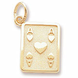 14K Gold Ace of Hearts Charm