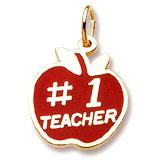 3460 - #1 Teacher (Red Painted Apple)