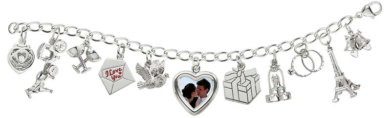 Wedding Charm Bracelet and Charms