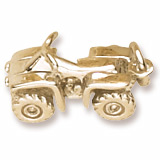 14K Gold 4 By 4 Wheeler Charm