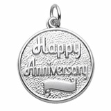 Happy Anniversary with Scroll Charm