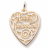 Happy Anniversary Cutout Charm