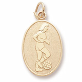 Female Soccer Disc Charm