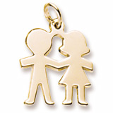 Boy and Girl Silhouette Charm