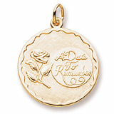 14K Gold A Date to Remember Charm with a Rose