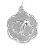 Wedding Rings on Disc Charm