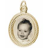Scrolled Oval Baby PhotoArt Charm
