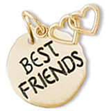 14K Gold Best Friends Charm Tag
