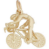 14K Gold Bicycle Riding Charm